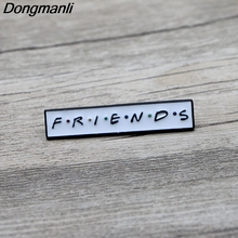 L3219 Friends Enamel Pins TV Series Brooch Friends Badge Denim Shirt Lapel Pin Jewelry Gift for Fans 1PCS 20 dnd enamel pins custom game brooch lapel pin shirt bag badge dragon and dungeon jewelry gift for fans friends