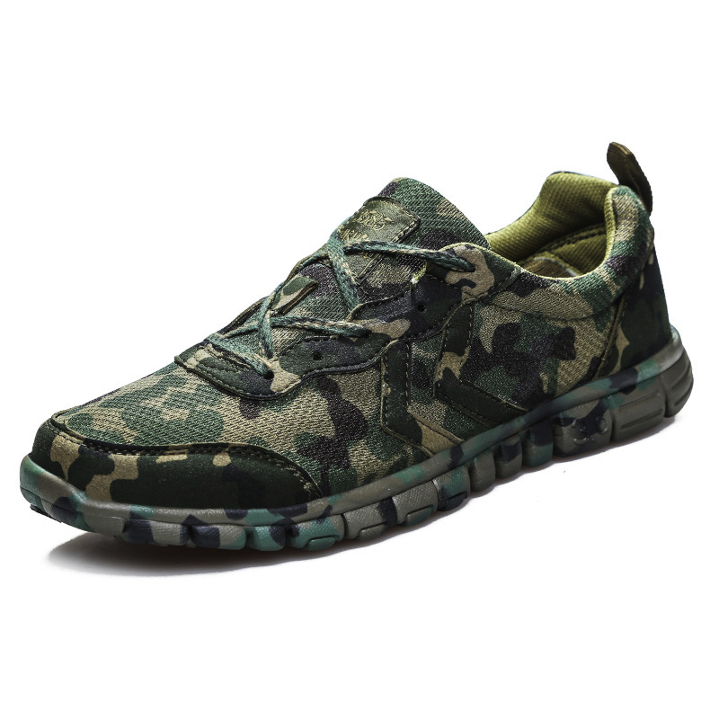 New Cool Combat Outdoor Sports Shoes Cross Country Camouflage Army Shoes Desert Running Shoes Military Training Sneakers For Men