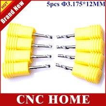 Durable 5 stücke 3,175 x12mm Einzigen Flöte Millinging Werkzeuge für Schneiden Aluminium, sharp Hartmetall Router Bits Fräser für Stecher