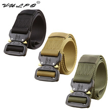 VULPO Military Equipment Army Tactical Belt Men Thicken Metal Buckle Sturdy Nylon Belt Combat Belts