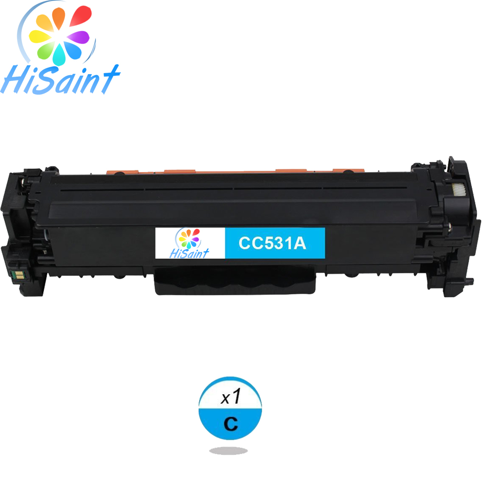 ФОТО Hisaint Listing Hot Sale Best Toner Cartridge Replacement for HP CC531A 304A (Cyan, 1-Pack)  Special counter Free shipping