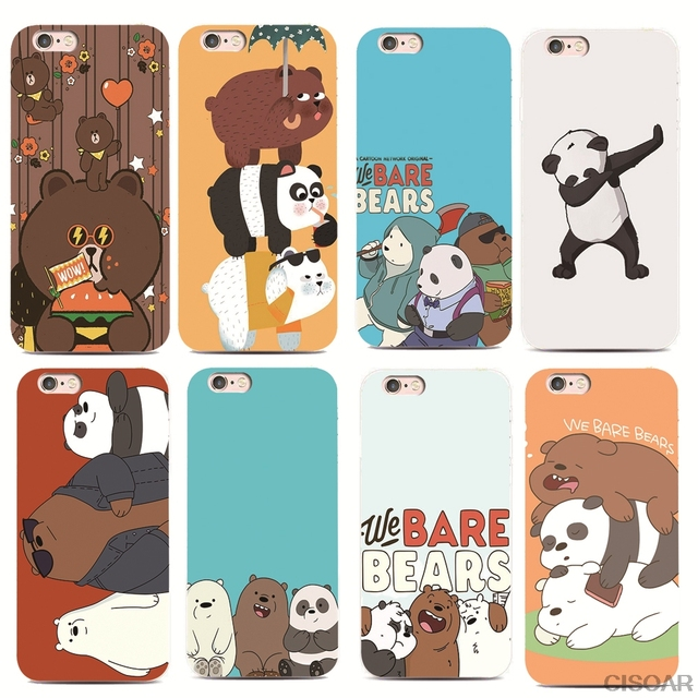 2a50722e68 SMMNAS We Bare Bears For iPhone 7 X XS XR XSMAX for Samsung S8 S7 S6  Transparent soft shell