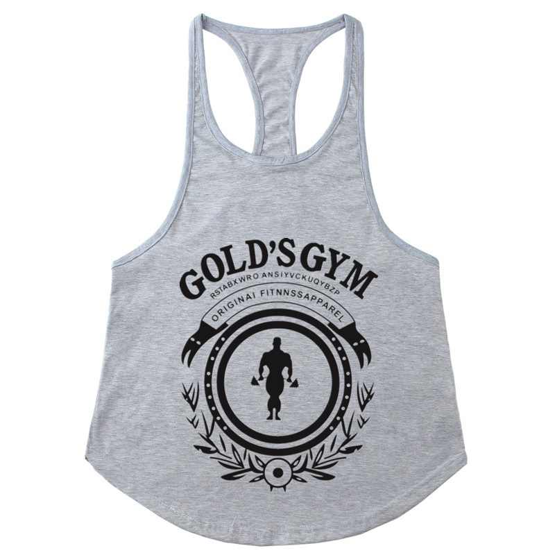 2018 Golds Bodybuilding Stringer Tank Tops Men Gyms Stringer Shirt Fitness  Tank Top Men Gyms Muscle