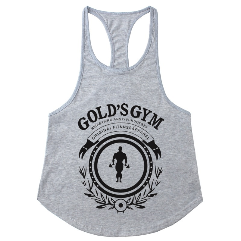 2018 Golds Bodybuilding Stringer   Tank     Tops   Men Gyms Stringer Shirt Fitness   Tank     Top   Men Gyms Muscle Clothing