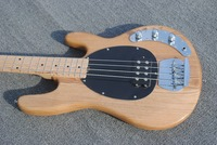 Top Selling Nature Wood Music Man StingRey4 Bass Guitar 4 String Electric Bass Guitar Left Handed Custom Available