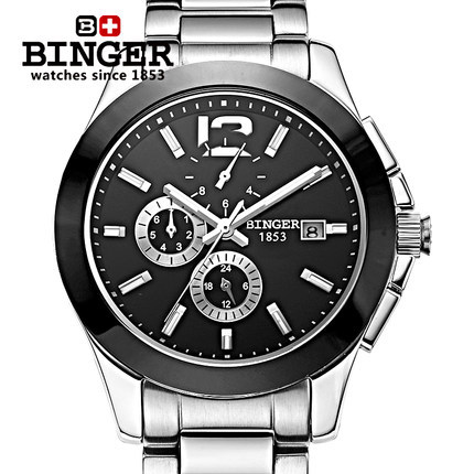 Здесь можно купить   2017 New Trending Men Dress Brand Binger Watch Bracelet Ceramic Large watches Automatic Mens Wristwatches Best Quality Часы