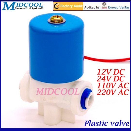 Plastic water dispenser solenoid valve G1/8 normally closed 2 Way direct acting 12V DC 0-120PSI Small valve 1 2 built side inlet floating ball valve automatic water level control valve for water tank f water tank water tower