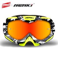 NENKI Ski Glasses Motorcycle Goggles Motocross Goggles Racing Eyewear Snowboard Glasses Colorful Lens Glasses Single Lens 1016