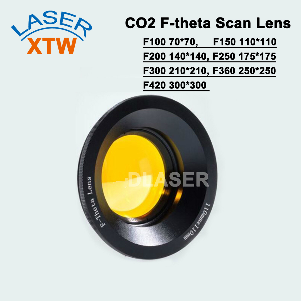 USA CVD ZnSe 10.6um CO2 Laser F theta Scan Lens System marking machines galvo scanner