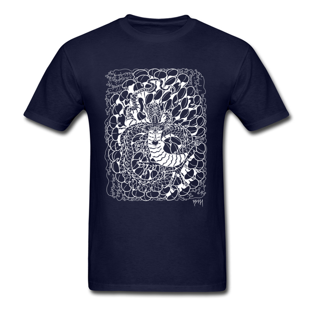Chic 2018 T shirt Men Tshirt Chrysanthemum Dragon Tops New Arrival Printing T Shirt Cotton Black Tees Chinese Style Guys Clothes in T Shirts from Men 39 s Clothing