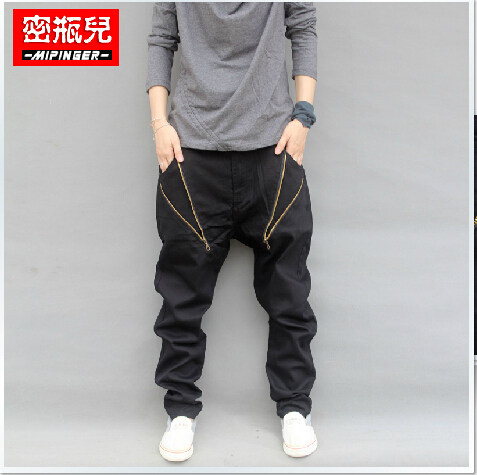 Men's Clothing Fashion Casual Hip Hop Harem Cross Baggy Pants Men Drop Crotch Pants Pantalones Hombre Mens Joggers