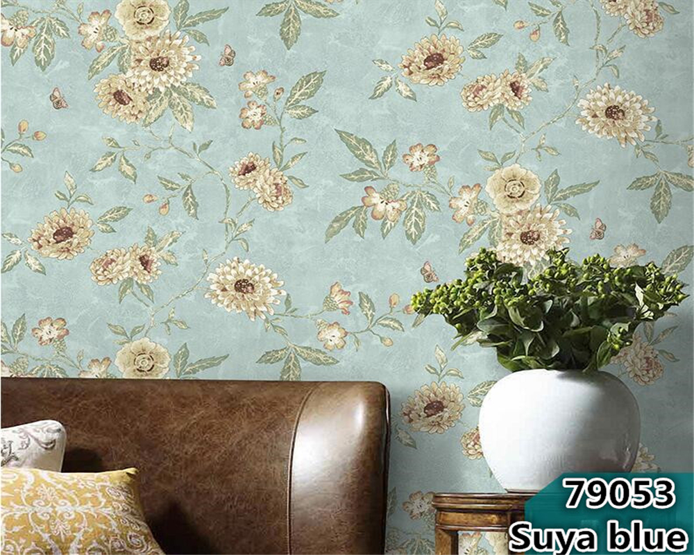 beibehang Retro American Village Pastoral Large Flower Paper Wallpaper Bedroom Living Room Sofa Background Wall paper Classicalbeibehang Retro American Village Pastoral Large Flower Paper Wallpaper Bedroom Living Room Sofa Background Wall paper Classical