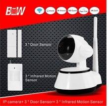 Cámara IP de seguridad WiFi Cámara IP Onvif Seguridad Para El Hogar Inalámbrico + 3 sensor de puerta 3 infrarrojos motion sensor noche visión