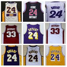 Mens Youth Women 24 Kobe Bryant 8 33 Basketball Jersey Stitched Rev 30 KB 33  Jersey Black Purple White Gray Yellow Jerseys 1468500da