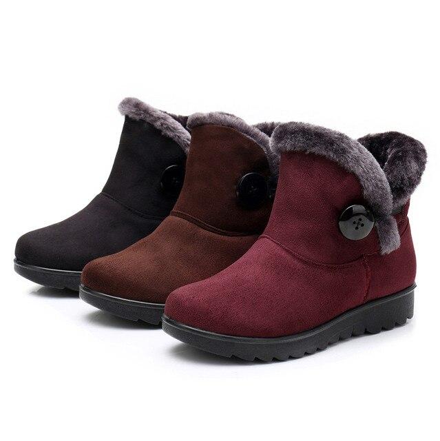 SAGACE หิมะรองเท้าบูทผู้หญิงฤดูหนาวผู้หญิงฤดูหนาวมาร์ตินข้อเท้าหิมะสั้น Boot ขนสัตว์รองเท้า Drop shipping CSV O1213 #25
