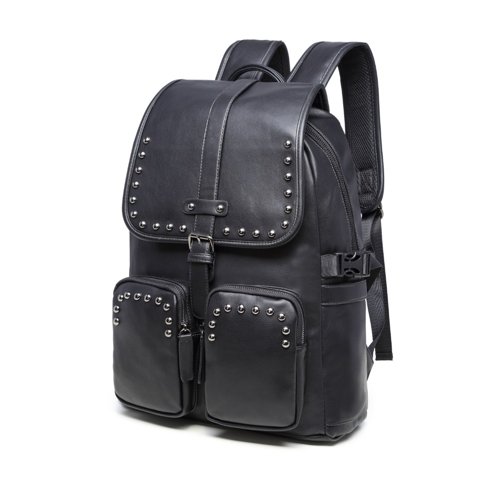 (B9598)2016 Vintage quality PU leather men women backpack, two kinds of color , suitable for mochila or shopping bag