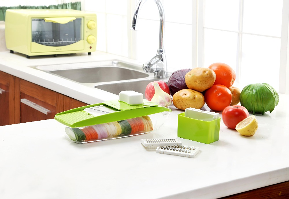 Multi  Purpose Vegetable Slicer 5 in 1 Vegetable Cutter Slicer Peeler Multi Chop