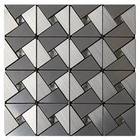 4pcs Self adhesive 3d Metal Mosaic Wall Tiling Wallpaper Waterproof Anti soft Bag Bedroom Floor Decoration Wall Stickers