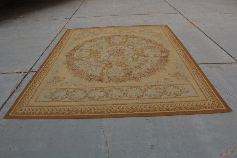 Livraison gratuite 12'x18' Aubusson tapis français Aubusson tapis tissé à la main grand tapis tapis
