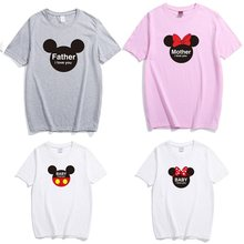 family matching outfits clothes look father mother daughter son cartoon t shirt clothing daddy mommy and me clothes baby dresses(China)