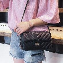 TOYOOSKY Luxury Handbag Quilted Plaid Women Messenger Bag Designer Chain Flap Bag PU Leather Small Crossbody Bags bolsa feminina
