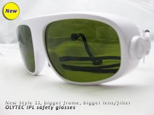 New IPL safety glasses (190-2000nm. O.D  4+ CE ) bigger frame and filters, comfortable to wear