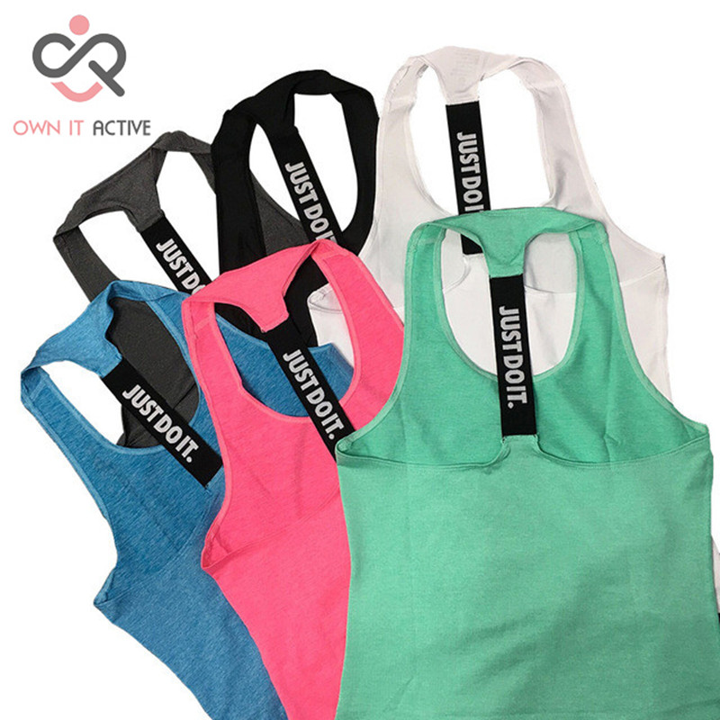 Women Gym Sports Vest Sleeveless Shirts Tank Tops Vest Fitness Running Clothes T