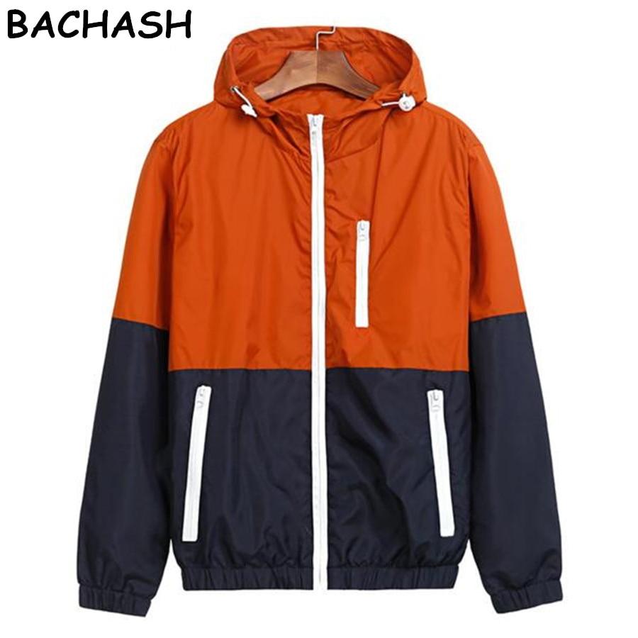 BACHASH   Jackets   Women New Fashion   Jacket   Womens Hooded   Basic     Jacket   Casual Thin Windbreaker Female   Jacket   Outwear Women Coat