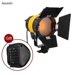 5500/3200K 80W LED Spotlight Continuous Light+barndoor+ V-mount+Bowen Mount Softbox For Studio Photography Lighting  CD50