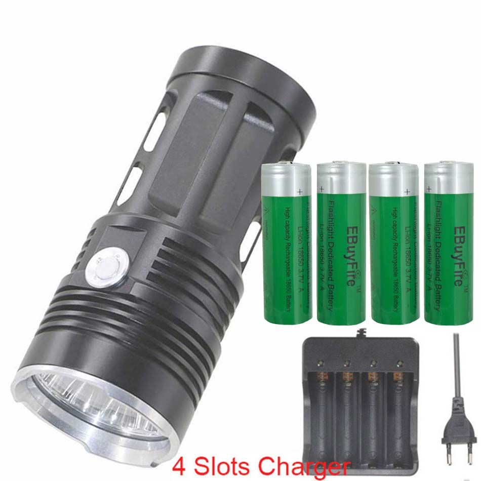 3719416684aaa king 3T6 6T6 7T6 10T6 11T6 FLASHLIGHT 10x XML T6 LED Flash light Torch Camp  Lamp work Light 4x18650 battery charger