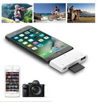 Тип C iOS кард-ридер OTG USB камера соединительный комплект для iPhone XS MAX XR iPad Pro 2018 MacBook адаптер для телефона SD TF карта писатель