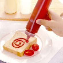 Кухонные принадлежности бутылка для пикника барбекю салатная Бутылка Приправ выдавливаемый пластиковый соус-Кетчуп Mayonnaise горчичный кухонный инструмент