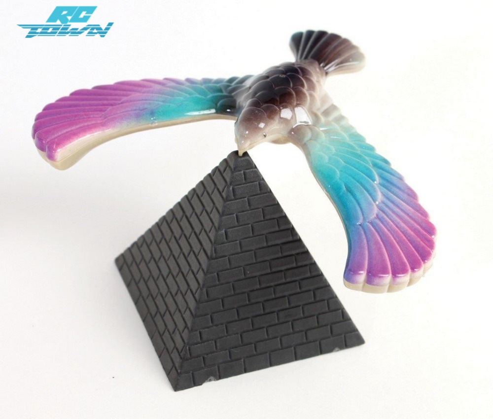 RCtown Amazing Balancing Bird With Triangle Stand  Color May Vary Random Color Zk15