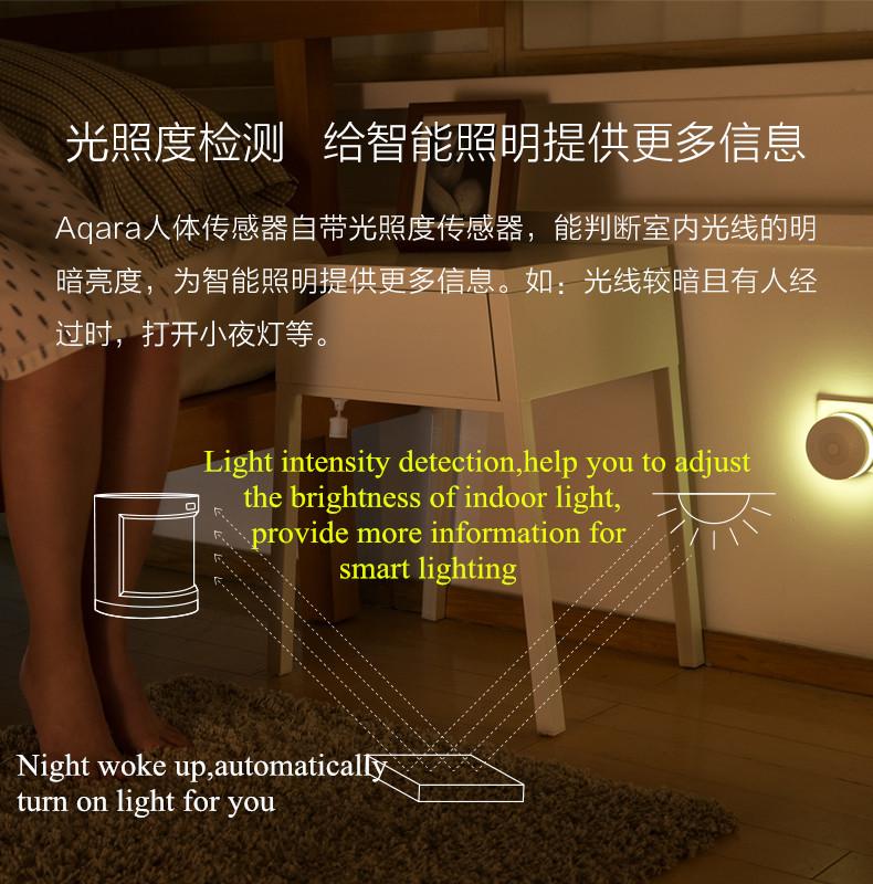 оптовую продажу обновленные Xiaomi в Aqara человеческого тела датчик умный тела движения датчик движения ZigBee в связи Mihome приложение через Android и усилителя;iOS устройств