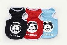 FB44 Dog Summer Vest – bear &adi dog design Summer dog Clothing Pets Clothes FREE shipping