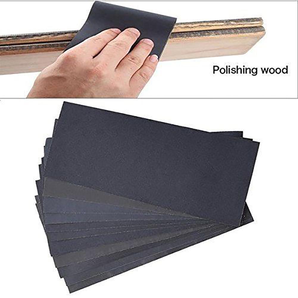 6X Sheet Paper Set 3X Sanding Polish Grinding Tool Bow Handle Modeling Holder
