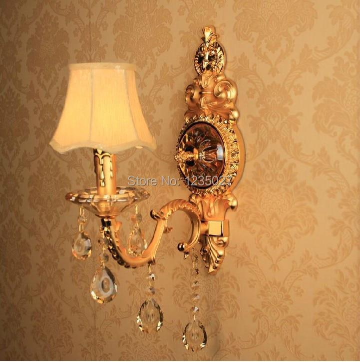 ФОТО Hotsale EU style Alloy Single side E14 candle bulb silver Wall mounted Indoor crystal wall lamps lighting