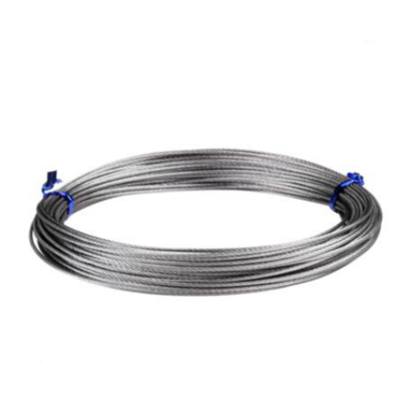 1mm 1.5mm 2mm 3mm 4mm 5mm 6mm Diameter Steel PVC Coated Flexible Wire Rope Cable Transparent Stainless Steel Clothesline 7*7