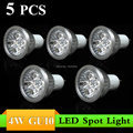5PCS GU10 4W AC85~265V  LED Spot Light Bulb Lamp  White/Warm White Spotlight Free Shipping led spotlight