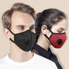 1 шт случайных противотуманных Pm2.5 пылезащитный с фильтром хлопковая маска зимняя хлопковая дышащая Защитная Маска дыхательный клапан