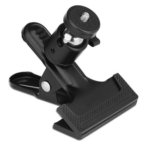 Image 2 - Clip Clamp Holder Mount with Universal Metal Standard Ball Head 1/4 Screw for Camera Flash Holder Bracket for Photography