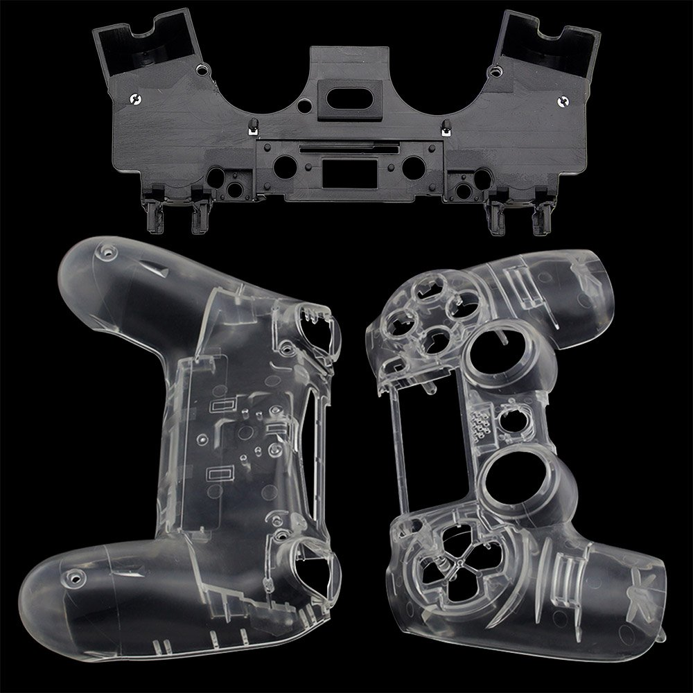 Купить с кэшбэком PS4 Front Back Replacement Shell Case Cover Repair for Playstation 4 PS4 Wireless V1 Controller Gamepad Clear Transparent Custom