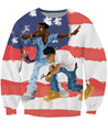 The Throne Crewneck Sweatshirt Kayne West and Jay-Z American flag 3d Print Casual Jumper Women/Men  Tops Sweats Outerwear