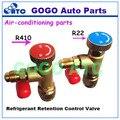 Retenção de Refrigerante R22 R410A Válvula de Controle, Válvula de Ar condicionado de Carregamento, Adaptador De Carga de refrigeração