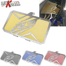 LJBKOALL Motorcycle Radiator Guard Grill Grille Cover Protector for Yamaha YZF R3 YZF-R3 2015 2016 2017 2018 Black Red Blue Gold new stainless steel motorcycle accessories radiator guard cover grille grill fuel tank protector for r3 2015 2016 free shipping