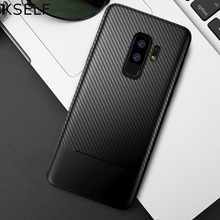 KSELF Soft TPU Case For Samsung galaxy S9 Plus S8 Note 8 Carbon Fiber Silicone Cover Coque