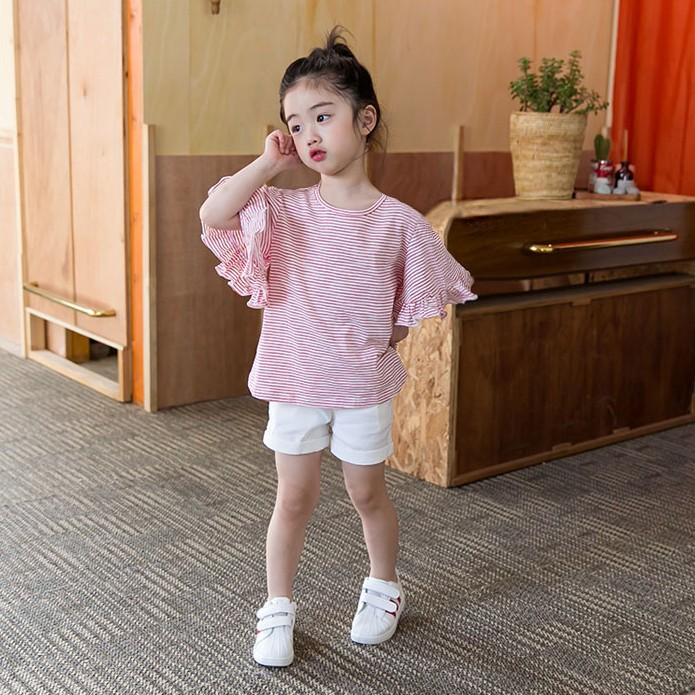9194c06a8 NNW 2017 little girls baby shirt small children stripe trumpet sleeve shirt  Princess girls fashion shirts clothes-in Blouses & Shirts from Mother & Kids  on ...