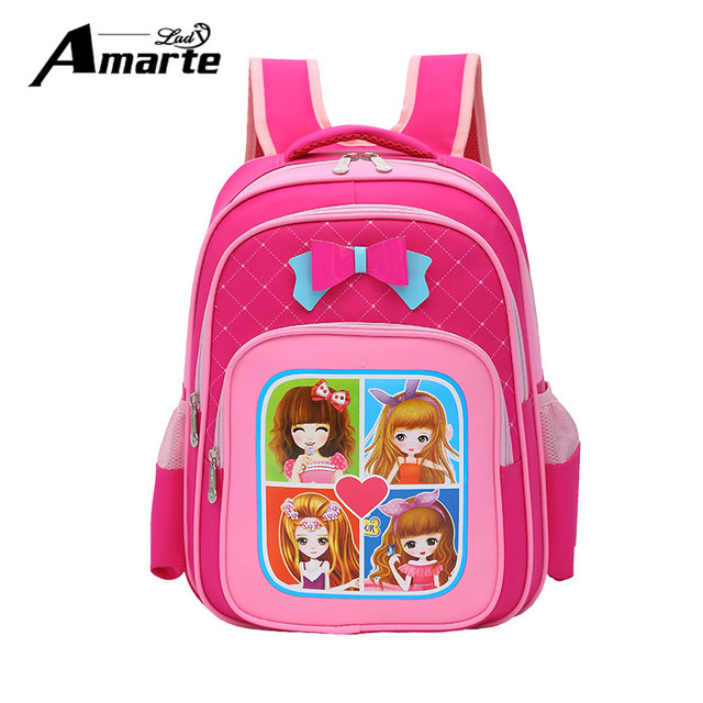 717d4a2282cb3 Amarte ماركة الاطفال الكرتون الحقائب المدرسية الأطفال حقائب مدرسية للبنات  بنين مدرسة العظام 1-2