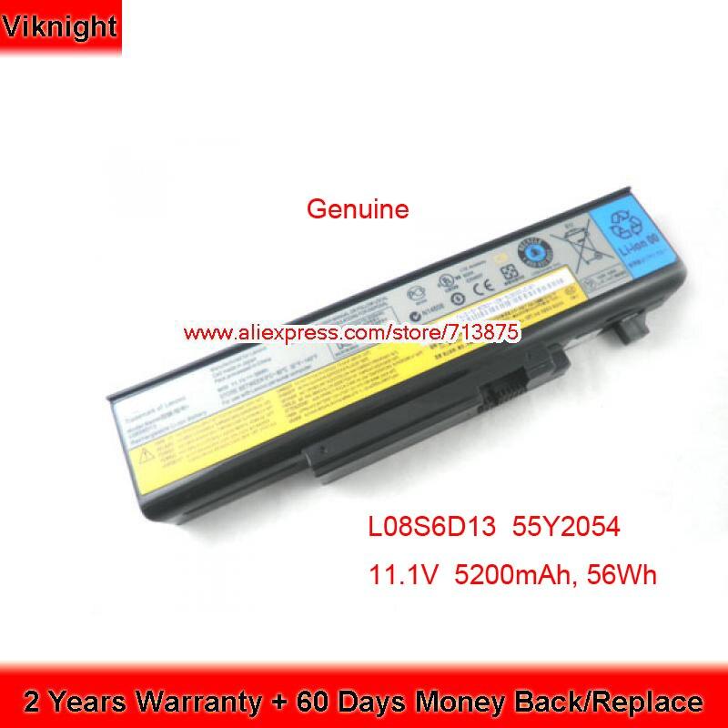 Véritable L08S6D13 Batterie pour Lenovo Y550P Y450 Y550 Y550A 55Y2054 L08L6D13 L08O6D13