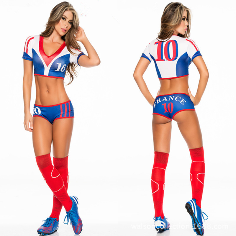 19202b9ab free pp 2017 Football Baby Costume Sexy Cheerleading Cloth Women Football  Sexy Sports costumes Germany Argentina Spain Brazil-in Holidays Costumes  from ...